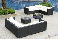 (CLICK IMAGE TWICE FOR UPDATED PRICING AND INFO) #home #patio #sofa #outdoor #outdoorsofa #patiosofa #patiosofaset #loungesets #outdoorpatiosofasets  see more patio sofa at http://zpatiofurniture.com/category/patio-furniture-categories/patio-sofa/ - Modern Furniture All-Weather Collection: 2 White Sectional Sofas and 2 Coffee Tables « zPatioFurniture.com