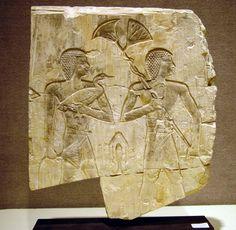 relief, limestone, Egyptian, 13 3/4 inches high, Saite Period, Dynasty XXVI, 664-525 B.C.  Christies