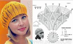 Crochet Wonders: Caps, Caps and Berets Crochet Crochet Diagram, Crochet Chart, Love Crochet, Crochet Stitches, Crochet Patterns, Crochet Gratis, Bonnet Crochet, Crochet Beret, Crochet Slippers