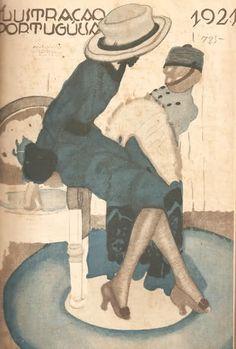 De autoria de António Soares uma capa da Ilustração Portugueza de 5 de Março de 1921