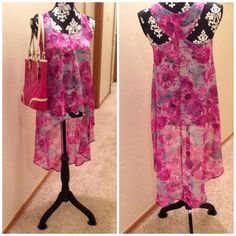 """Spotted while shopping on Poshmark: """"Floral Hi Low Tank""""! #poshmark #fashion #shopping #style #Kandy Kiss #Tops"""