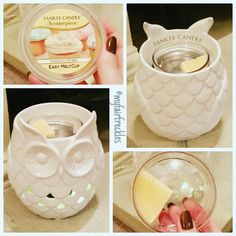 Bought a #yankeecandle #scenterpiece #owl #electricwax burner. Bit strong so I'm testing melting 1/4 of the wax...