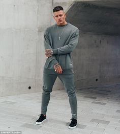 Hidden talent: Speaking exclusively to MailOnline, the revealed his past in designing prior to appearing on Love Island Alex And Olivia, Alex Bowen, Fashion Line, Mens Fashion, Night Suit, Line S, Androgynous Fashion, Love Island, Sport Outfits