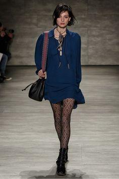 Rebecca Minkoff Takes a Risk, Goes Punk Patti Smith for F/W 15 via @WhoWhatWear