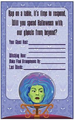 Haunted Mansion Invite. Could convert to wedding or bridal shower invite