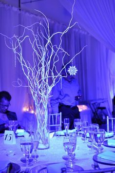 Wedding Winter Wonderland Branches New Ideas Winter Wonderland Ball, Winter Wonderland Wedding Theme, Winter Wonderland Centerpieces, Winter Themed Wedding, Winter Thema, Winter Wedding Receptions, Wedding Themes, Wedding Ideas, Christmas Themes