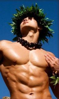 Hawaiian male hula dancer. (If you think women can shake it.....)
