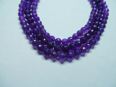Natural Amethyst Fabulous AAAAA High Quality 5 MM by StarGemBeads