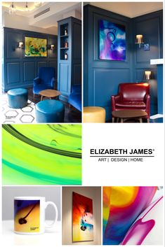 Unique art, accessories & gifts by Elizabeth James®  Limited Edition Art, Luxury Silk Cushions, Greetings Cards & Homeware.  FREE UK DELIVERY #homedesign #art #homeware #cushions #mugs Greater London, Free Uk, Elizabeth And James, Unique Art, Dorm Room, Greeting Cards, Delivery, Cushions, Room Decor
