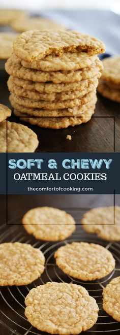 oatmeal cookies with quick oats / oatmeal cookies - oatmeal cookies easy - oatmeal cookies healthy - oatmeal cookies chewy - oatmeal cookies recipes - oatmeal cookies chocolate chip - oatmeal cookies easy 2 ingredients - oatmeal cookies with quick oats Soft Chewy Oatmeal Cookies, Healthy Oatmeal Cookies, Oatmeal Cookie Recipes, Oatmeal Chocolate Chip Cookies, Oatmeal Cookies No Eggs, Oatmeal Ball Recipe, No Egg Cookies, Oatmeal Pancakes, Raisin Cookies