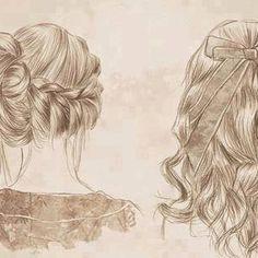 Wicker hairstyles sketch by @girlystuffallforyou #wicker #hair #sketch  pinned by wickerparadise.com