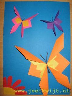 Lente knutsel vlinders vouwen