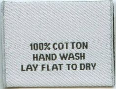 clothing label  contents; care instructions