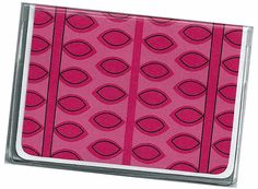 Card Case / Mini Wallet  Bright Pink Vines  by rabbitholeonline, $4.25