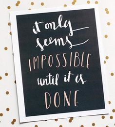 Only Seems Impossible Art Print by Serif & Script on Scoutmob Shoppe