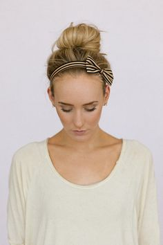DIY INSPIRATION: Striped Bow Headband