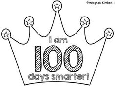 FREE 100th day crown template to download and print