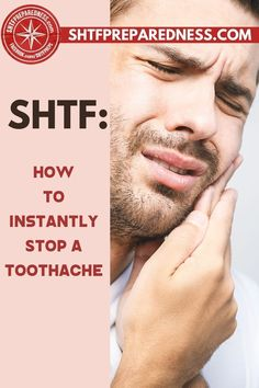 Do you know how to instantly stop a toothache? SHTF Preparedness has some tips, tricks, and remedies for you that will give you some relief if you are struggling with discomfort and pain. Have a look at this article now for more information and try the suggestions for yourself. #toothache #toothacheremedies #remedyfortoothache #toothacherelief #relieffortoothache Natural Cures, Natural Health, Health Tips, Health And Wellness, Remedies For Tooth Ache, Dental Insurance, Ehlers Danlos Syndrome, Wound Care, Best Money Saving Tips