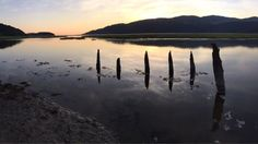 An old, sunken jetty at sundown across the Mawddach Estuary 16 August, Cymru, Urban Decay, Wales, Fathers, Earth, Mountains, Pictures, Travel