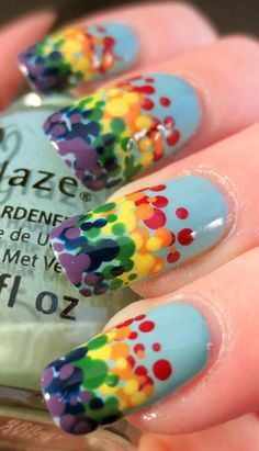 Rainbow dot gradient