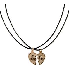 Monsoon 2 x Best Friend Choker Necklace ($12) ❤ liked on Polyvore featuring jewelry, necklaces, lobster claw charms, metal choker necklace, cord necklace, heart necklace and heart jewelry