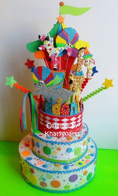 circus birthday cake topper http://www.artfire.com/users/kharygoarts