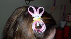 Easter Bunny Ribbon Hair Clip by melanieswartz on Etsy, $5.00