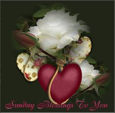Sunday Blessings to you love day flowers heart friend blessing days of the week sunday greeting