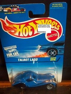 Collections and Lots 73252: Hot Wheels 1997 #714-3 Talbot Lago Blu Blk Fenders Version #3 -> BUY IT NOW ONLY: $225 on eBay!