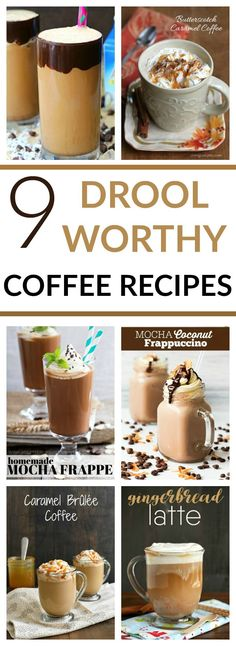 Here are some of the best coffee recipes on Pinterest! Talk about DROOL worthy! We're celebrating National Coffee Day, how about you?! #CoffeeRecipes