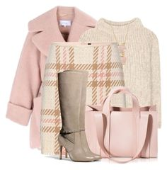Fall Skirt & Tall Boots by brendariley-1 on Polyvore featuring polyvore, fashion, style, Tom Ford, Carven, MARC CAIN, Coach, Corto Moltedo, First People First and clothing