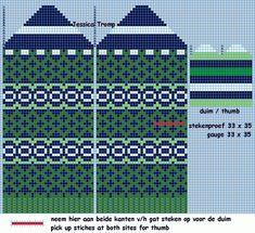 30 Patrones de Mitones Jackard Knitted Mittens Pattern, Crochet Mittens, Knitted Gloves, Knitting Charts, Knitting Socks, Knitting Patterns, Knitting Ideas, Tapestry Crochet Patterns, Bead Crochet Rope