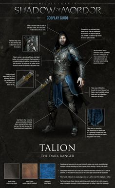 Shadow of Mordor Talion/The Dark Ranger cosplay guide