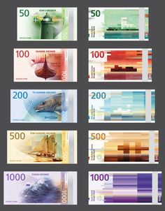 The new Norwegian banknotes