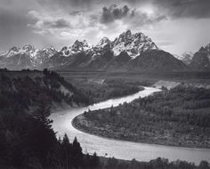 Ansel Adams: The Tetons and the Snake River, Grand Teton National Park, Wyoming…