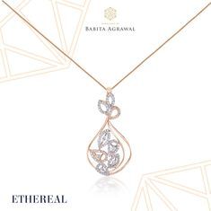 A classic pendant for everyday wear! Our #Ethereal collection has a range of daily wear jewellery. Visit our store or website to know more!  #royal #jewellery #boutique #polki #jadau #diamond #gold #rosegold #ring #necklace #bracelet #earrings #indian #indianwedding #weddingjewellery #designer #designerjewellery #mumbai #mumbaijewellery #andheri #india #love #bride #bridaljewellery
