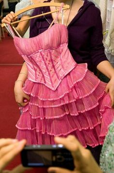 backstage photo of Galinda's Popular dress - Wicked the Musical, beautifully detailed! Wicked Costumes, Broadway Costumes, Theatre Costumes, Ballet Costumes, Movie Costumes, Dance Costumes, Wicked Musical, Broadway Wicked, Wicked Witch