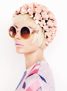 neimanmarcus: Marc by Marc Jacobs Optyl sunglasses with pink gradient lenses.