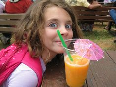 Took Ella two hours to get her peach smoothie down.     Yum, smoothies can energize your day. Great recipes at http://goodfood.healthy-lifestyle-ideas.com/powerjuice/