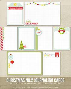 Christmas Journaling Cards (Digital)  | followpics.co