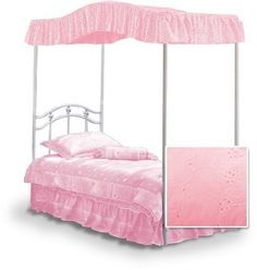 Fantasy Eyelet Bubblegum Pink Canopy Top for Your Full Size Canopy Bed ** For more information, visit image link.