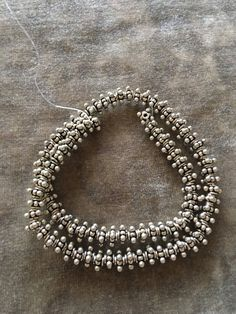 Freshwater Cultured Pearl and Crystal Necklace with 925 Sterling Silver vintage filigree connector