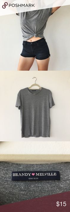 ✨ Brandy Melville Oversized Grey Tee ✨ Comfortable oversized grey tee by Brandy Melville. Brandy Melville Tops Tees - Short Sleeve