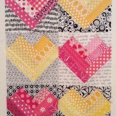 "Laura VanVleet on Instagram: ""Braided hearts for Rebecca #stashbee2017 #hive7"" Rainbow Blocks, Braids, Hearts, Quilts, Photo And Video, Blanket, Instagram, Bang Braids, Cornrows"
