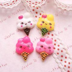 Kawaii ice cream charms