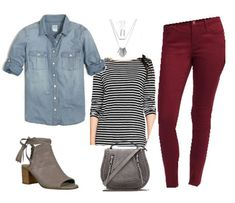 Chambray, Stripes and Burgundy | Fall Winter Capsule Wardrobe