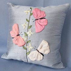 Wonderful Ribbon Embroidery Flowers by Hand Ideas. Enchanting Ribbon Embroidery Flowers by Hand Ideas. Ribbon Embroidery Tutorial, Silk Ribbon Embroidery, Embroidery Kits, Embroidery Designs, Embroidery Stitches, Embroidery Supplies, Cushion Embroidery, Embroidery Techniques, Sewing Pillows