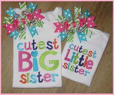 Big Sister, Little Sister, Sibling Set, Embroidery Sibling Shirts. via Etsy. Big Sister Little Sister, Little Sisters, To My Daughter, Baby Sister, Sibling Shirts, Sister Shirts, Big Shirts, Little Mac, Paisley