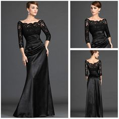 Classic Design Off The Shoulder Sheath Long Sleeves Lace Mother of The Bride Dresses Long Dresses Evening US $149.00