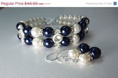 SUMMER SALE Bridesmaid Blue Jewelry  Set. by HolyLandPaloma, $33.75